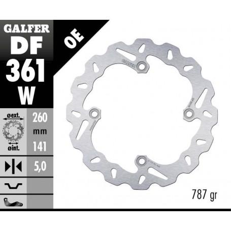 Disco Freno Galfer Wave DF361W Fijo Trasero OE
