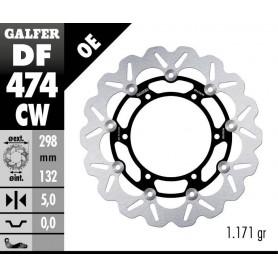 Disco Freno Galfer Wave DF474CW Flotante Núcleo Aluminio Delantero OE