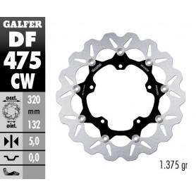 Disco Freno Galfer Wave DF475CW Flotante Núcleo Aluminio Delantero OE