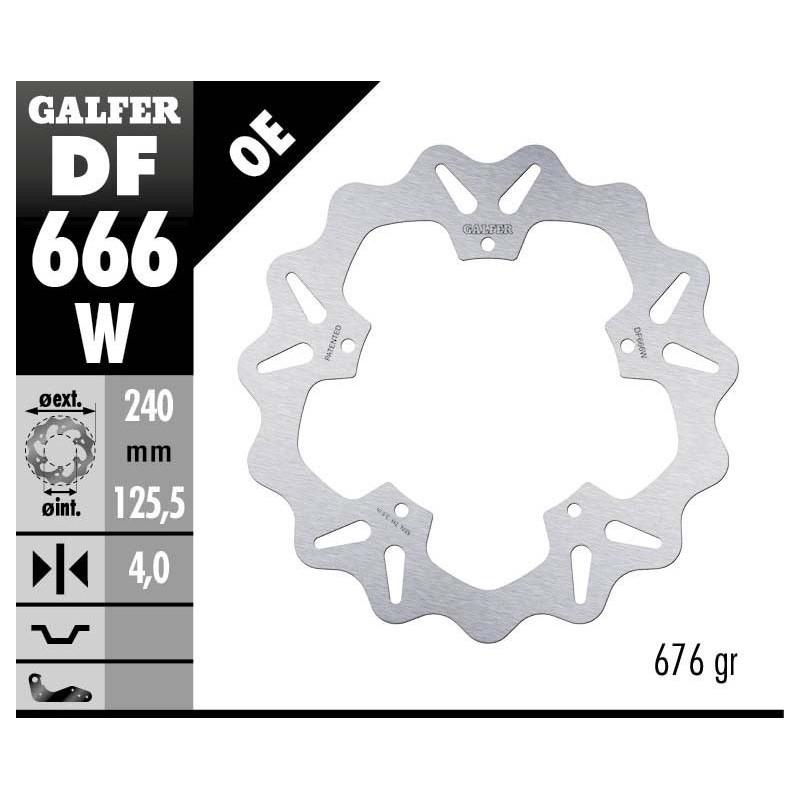 Disco Freno Galfer Wave DF666W Fijo Delantero o Trasero OE