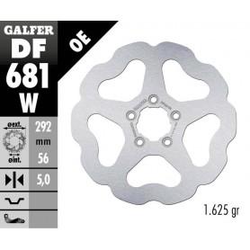 Disco Freno Galfer Wave DF681W Fijo Trasero OE