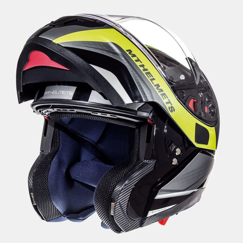 Casco Moto Mt Mugello Certificado Negro Brillo Talla S