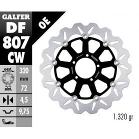 Disco Freno Galfer Wave DF807CW Flotante Núcleo Aluminio Delantero OE