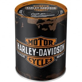 Hucha Metalica NOSTALGIC-ART Harley Davidson negra