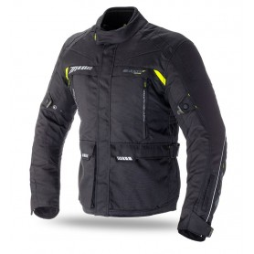 Chaqueta Seventy Degrees SD-JT41 Touring Negro Amarillo Fluor Invierno