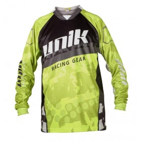Camiseta Cross Unik Mx01 Negro Fluor