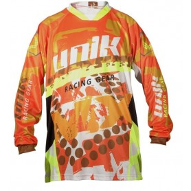 Camiseta Cross Unik Mx01 Naranja Fluor
