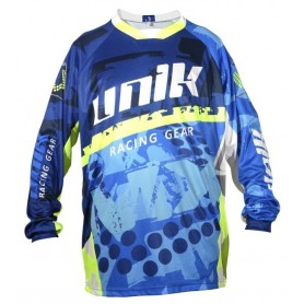 Camiseta Cross Unik Mx01 Azul Fluor