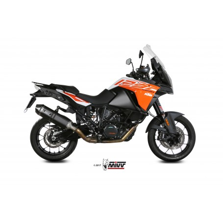 Escape Ktm 1290 Super Adventure R/S/T 2017- Mivv Speed Edge Acero Negro