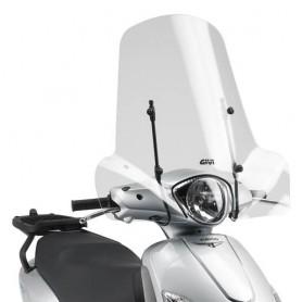 Cúpula Piaggio Liberty 50-125-150 I-GET 2016- Transparente 50,8x66cms Givi
