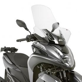 Cúpula MBK Tricity 125-155 2014- Transparente con spoiler 74x63cms Givi