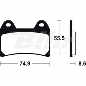 Pastillas de freno Brembo 07BB1907 Carbon Ceramic Road/Off Road/Scooter Delantera o Trasera