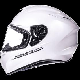 Casco MT Targo Solid A0 Blanco Perla Brillo Integral