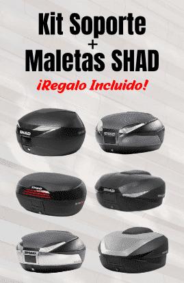 Pack maletas + soporte moto SHAD