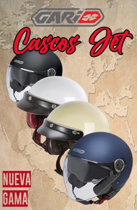 Nueva gama cascos Jet Gari