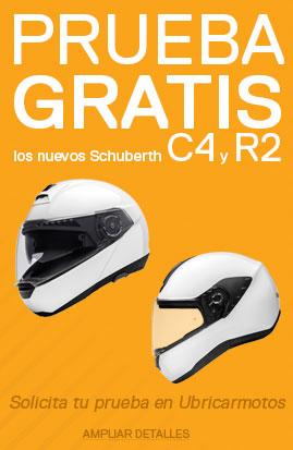 Promoción Prueba Gratis los nuevos Cascos Schuberth C4 y R2