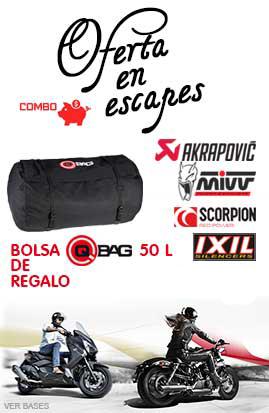 Combo Escapes de Moto + Bolsa de Regalo QBag 50L
