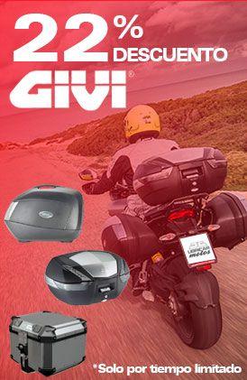 22% descuento en Maletas Givi y accesorios para moto