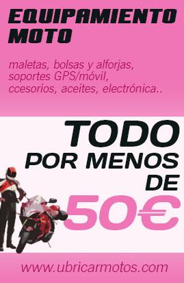 Promociones Especiales Ubricarmotos Equipamiento menos 50€
