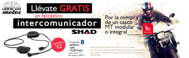 Por la compra de un casco MT gratis Intercomunicador Shad