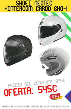 Oferta casco neotec + intercomunicador sho-1