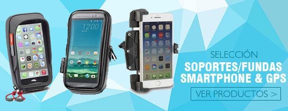 Gama de Accesorios para moto Soportes, Fundas, Smatphone, GPS
