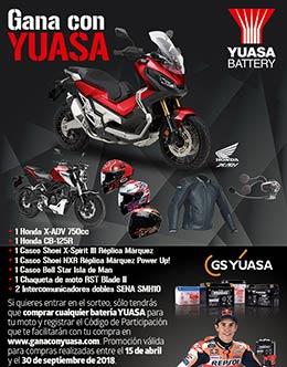 Gana con Yuasa en Ubricarmotos