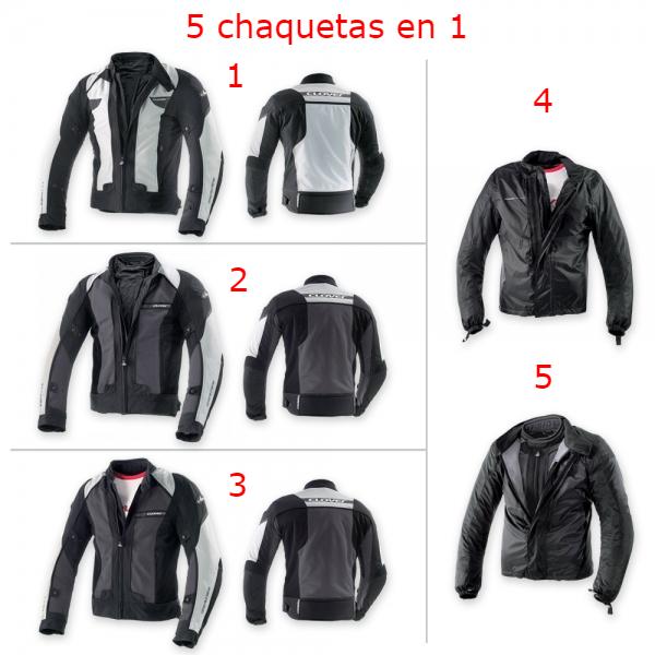 chaqueta moto cinco en uno