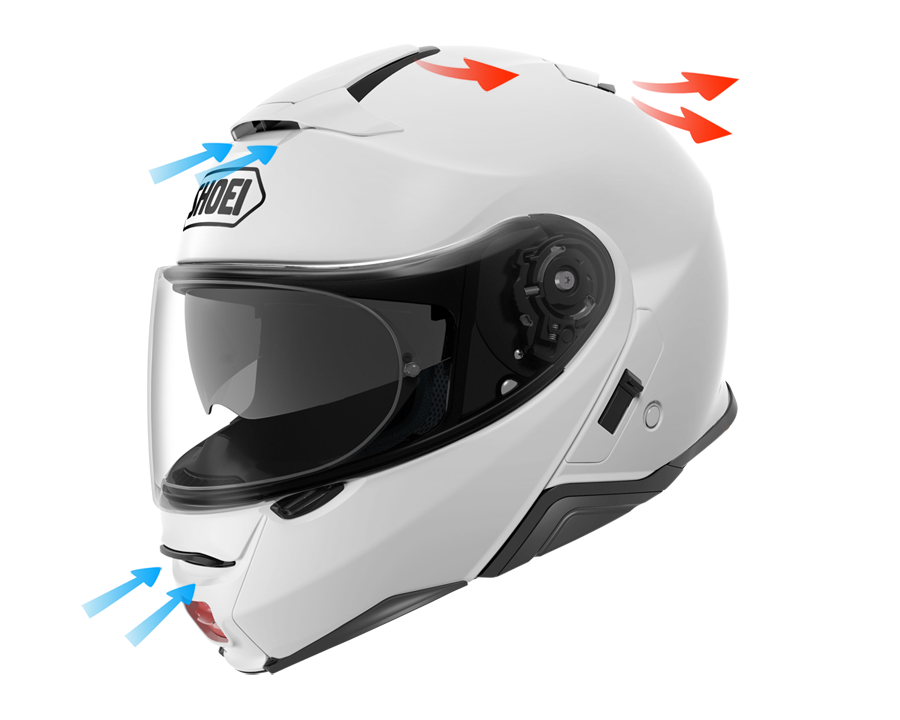 Ventilación Casco SHOEI GT-Air 2 Crossbar TC1 Integral