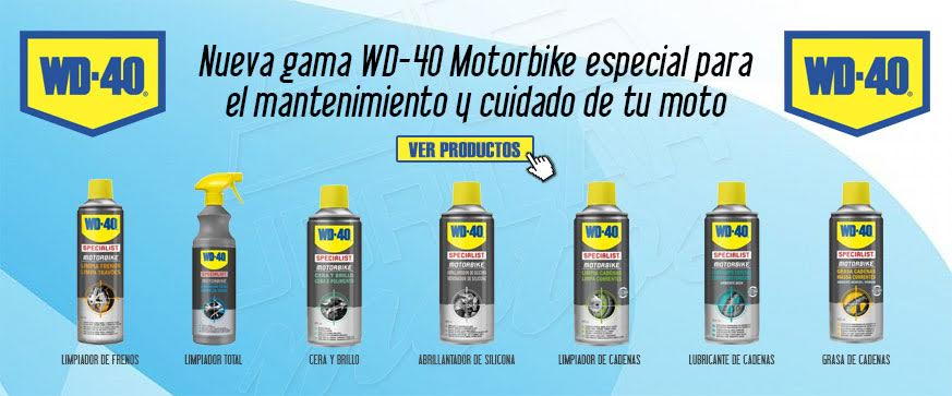 Catálogo de Lubricantes para moto WD-40