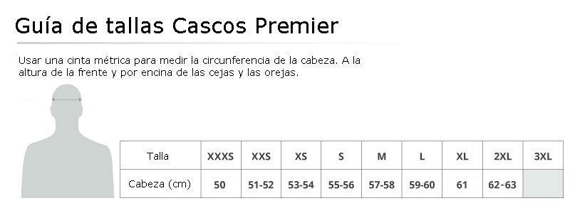 Tallas Cascos Premier