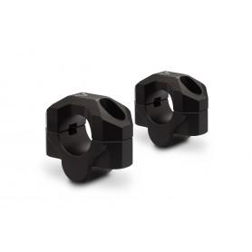 Elevador de manillares de 28mm Eleva 20mm Negro/Plateado