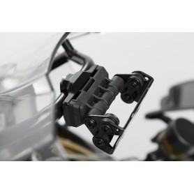Soporte de GPS BMW F800GS Adv 2013- Barra 13 mm + 16 mm Amortiguador Negro