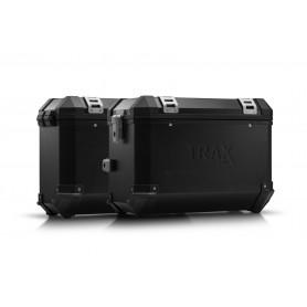 Sistema de maletas Kawasaki KLR 650 (08-) TRAX ION 45/37 L Negro/Plateado