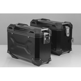 Sistema de maletas Triumph Tiger 1050 Sport (13-15) TRAX ADV 45/37 L Negro/Plateado