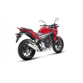 Silencioso Akrapovic Honda CB 400/500X 13-16 Acero inoxidable Slip-on Line