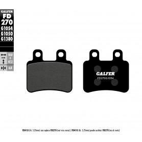 Pastillas Yamaha XT 125R/X 05-11 Trasera GALFER G1054 Semi Metálica
