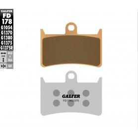 Pastillas Yamaha YZF R6 05-10 Delantera GALFER G1375 Sinterizada Sport