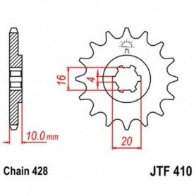 Piñón de Salida Hyosung RX125 D 11 JT JTF410.14 14 dientes