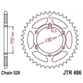 Corona Yamaha MT-03 (MTN320-A) 16-17 JT JTR486.43 Acero 43 dientes