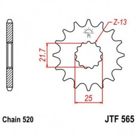 Piñón de Salida Yamaha MT-03 (MTN320-A) 16-17 B082 JTF565.14 14 dientes