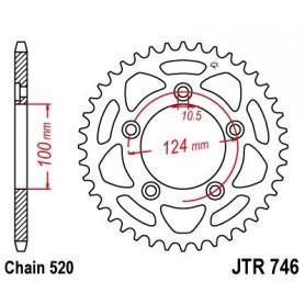 Corona Ducati 800 Scrambler Cafe Racer 18 JT JTR746.46 Acero 46 dientes