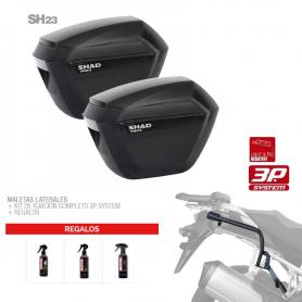 Sistema de Maletas Laterales Shad SH23 Suzuki V-Strom 650 11-16 +Regalo