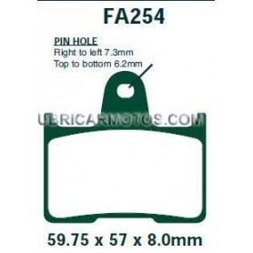 Pastillas Suzuki GSF 650 Trasera EBC Kevlar 05-06 sin Abs