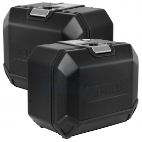 Juego Maletas laterales SHAD TERRA TR47 Aluminio Black Edition 47 Litros