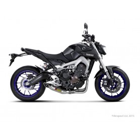Sistema de Escape Akrapovic Yamaha MT-09 14-16 Titanio Acero inoxidable Racing Line
