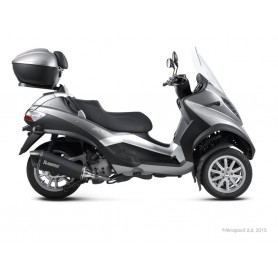 Escape Akrapovic Piaggio MP3 500/500 LT 08-16 Acero inoxidable Negro Slip-on Line