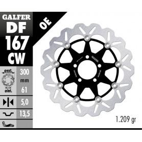 Disco Freno Galfer Wave DF167CW Flotante Núcleo Aluminio Delantero OE