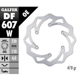 Disco Freno Galfer Wave Fijo DF607W Trasero OE