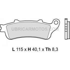 Pastillas Honda Nt700V Trasera con Abs Brembo Sinterizadas 06-